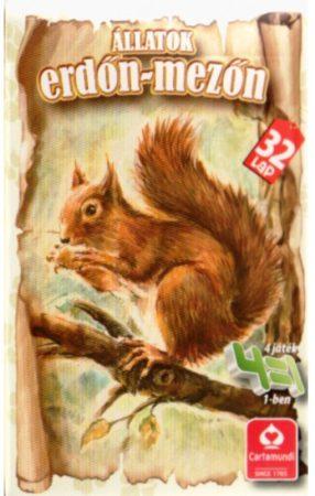 Állatok az erdőn, mezőn kártyajáték 4 az 1-ben -  Cartamundi