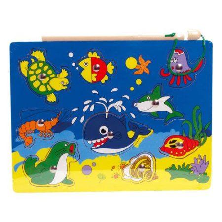 Mágneses horgász puzzle - teknősbékás