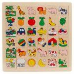 Képkereső fa játék (zsiráfos)
