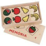 Fa memória játék gyümölcsökkel