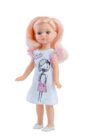 Játék hajasbaba Elena nyári ruhában 21cm Paola Reina