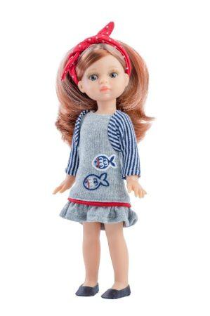 Játék hajasbaba Paola szürke ruhában 21cm Paola Reina