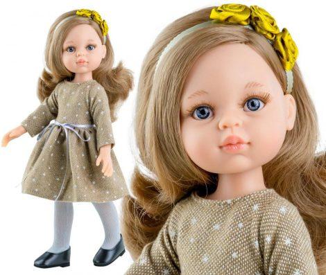 Játék hajasbaba Carla klasszikus bézs ruhában 32cm