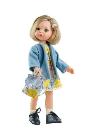Játék hajasbaba Carla virágmintás ruhában 32cm Paola Reina
