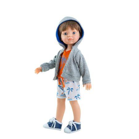 Illatos játék hajasbaba fiú Vicent beach ruhában 32cm Paola Reina
