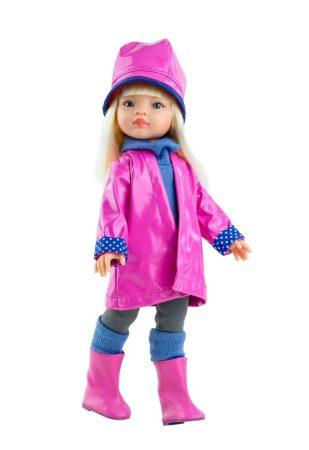 Játék hajasbaba Manica Pink esőkabátban 32cm Paola Reina
