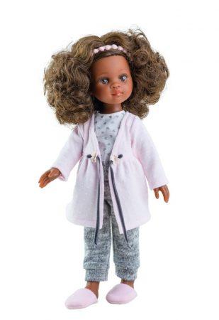 Játék hajasbaba Nora téli pizsamában, köntössel 32cm Paola Reina