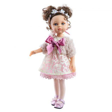 Játék hajasbabaCarol csipkés ruhában 32cm Paola Reina