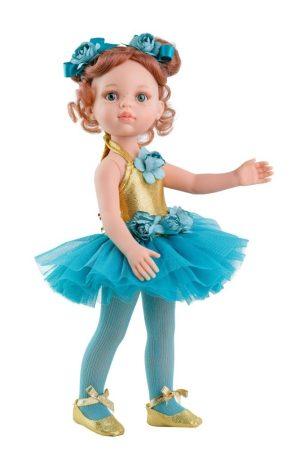 Paola Reina Carla Balerina kék tüll ruhában játékbaba 32 cm