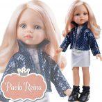 Játékbaba Paola Reina Carla 32 cm rózsaszín hajú