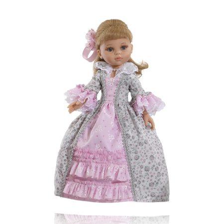 Játékbaba nagykereskedés - Paola Reina Carla Epoca Gris Rosa hajas baba