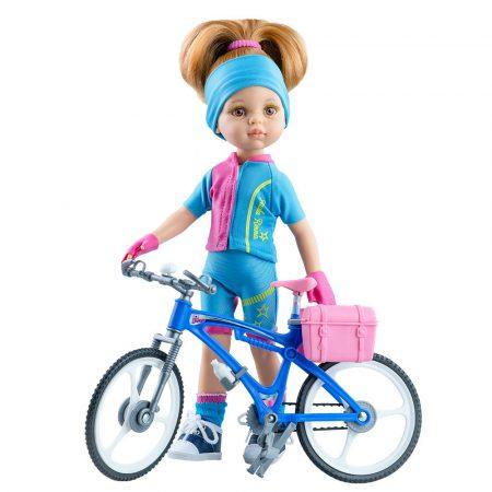 Játék hajasbaba Dasha kerékpárral 32cm Paola Reina