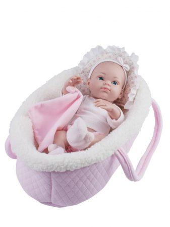 Játékbaba Mini Pikolin Rosa puha kosárban 32cm Paola Reina