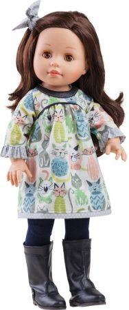 Játék hajasbaba Emily cicás ruhában 42cm Paola Reina