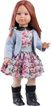 Játék hajasbaba Sandra virágos ruhában 60cm Paola Reina
