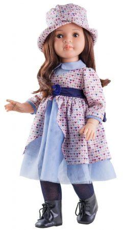 Játék hajasbaba Lidia szivecskés ruhában 60cm Paola Reina