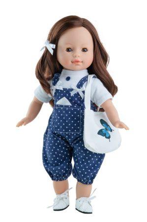 Játék hajasbaba Virgi kék nadrágban 36cm Paola Reina
