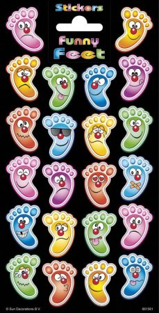 Matrica lábak-arcok Smile Feet Faces 102x200mm Funny Products