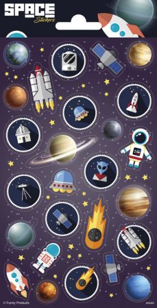 Space Sticker Matrica - Űrutazás Funny Products