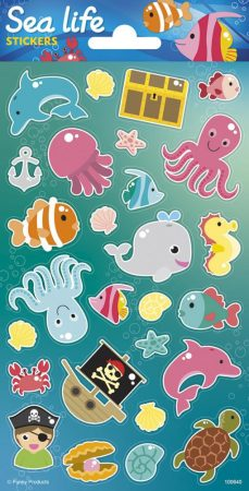 Sealife Sticker Tenger élővilága matrica 102x200mm Funny Products