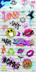 Graffiti matrica 102x200mm Funny Products