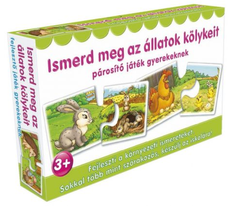 Ismerd meg az állatok kölykeit Fejlesztő játék gyerekeknek