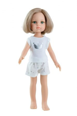 Játék hajasbaba Carla pizsamában 32cm Paola Reina