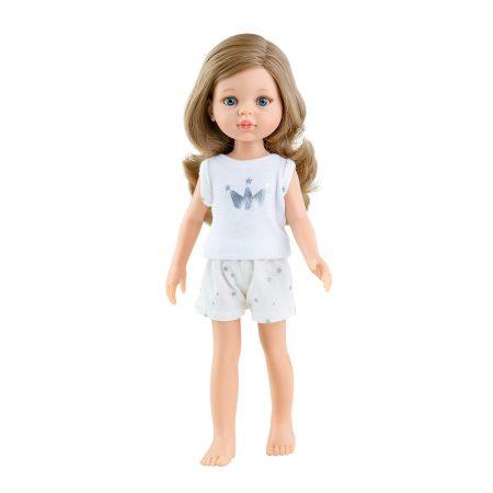 Játék hajasbaba Carla pizsamában hosszú hajjal 32cm Paola Reina