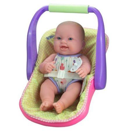 Berenguer élethű baba- újszülött lány babahordozóval 35 cm - Jc Toys