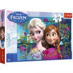 Trefl Jégvarázs puzzle Anna és Elsa 100 db-os