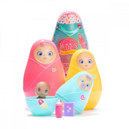 Lil 'Cutesies Matrjoska babák Vinil mini babával színváltós pelussal kiegészítőkkel JC Toys