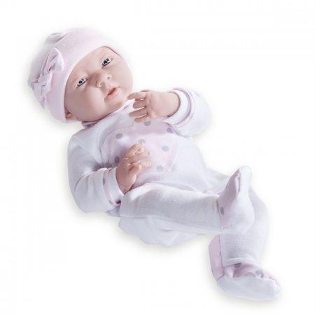 Játékbaba nagykereskedés- Élethű berenguer Játékbabák- Újszülött lány luxus baba fehér pink szíves p