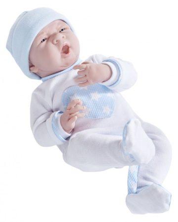 Berenguer újszülött élethû fiú játékbaba csillagos pizsamában 38cm