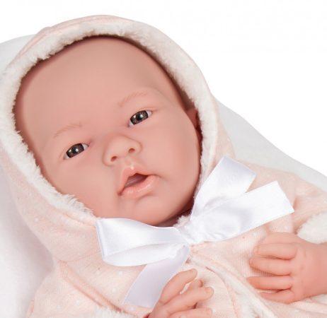 Élethű baba Berenguer - Nina újszülött lány, macival 38 cm - Jc Toys
