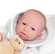 Berenguer élethű fiú baba 43 cm macival JC Toys