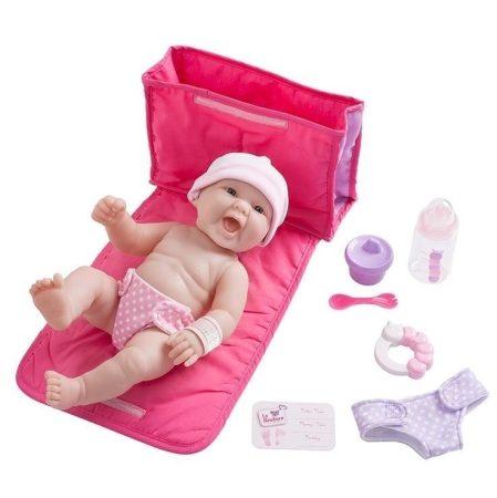Berenguer Élethű játékbaba újszülött lány, táskával, kiegészítőkkel  33 cm