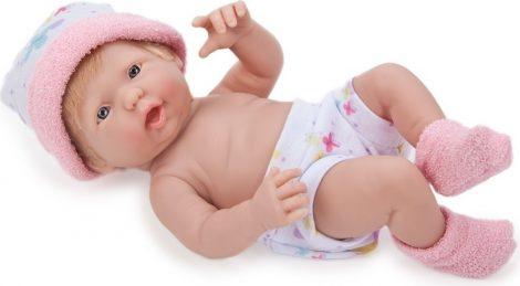 Berenguer újszülött lány karakterbaba rózsaszín sapkában 24cm