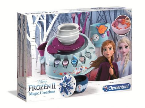 Frozen Jégvarázs korongozó agyagozó szett festékekkel Clementoni
