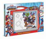 MARVEL SUPER HERO mágneses rajzoló tábla Clementoni