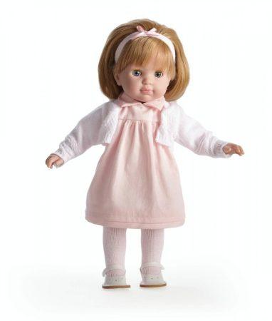 Játékbaba nagykereskedés -  Berenguer Carla hajasbaba pöttyös ruhában 36 cm