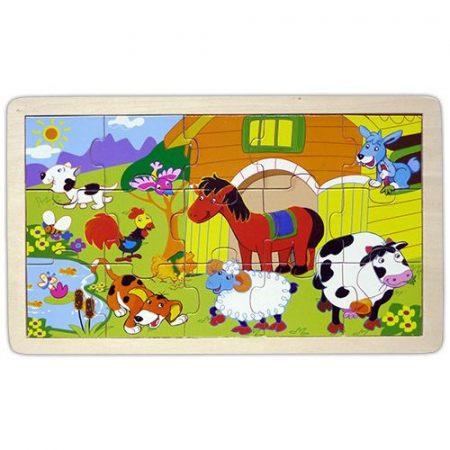 Fa Puzzle gyerekeknek 15db-os (farmos)