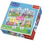 Peppa malac 4in1 puzzle Trefl  (35,48,54,70 db)
