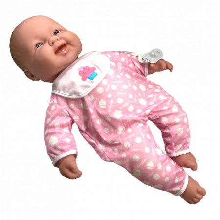 Berenguer Élethű játékbaba 51 cm-es puhatestű baba, lila vagy rózsaszín pizsamában