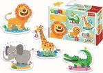 Szafari Baby puzzle táskában 4 mm vastag Trefl