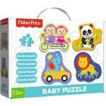 Fisher Price állatok Baby puzzle táskában Trefl