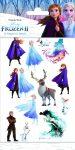 Frozen II - Gyerek matrica tetoválás - Funny Products
