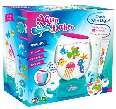 Aqua Dabra Nagy kreatív állatfigura készítő készlet Akváriummal Flair Toys