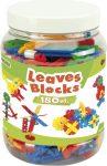 Leaves Blocks - Lapelemes építőjáték 180 db - Wader