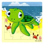 Fa Puzzle 16 db-os (teknős)