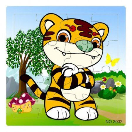 Fa Puzzle 16 db-os (tigris)
